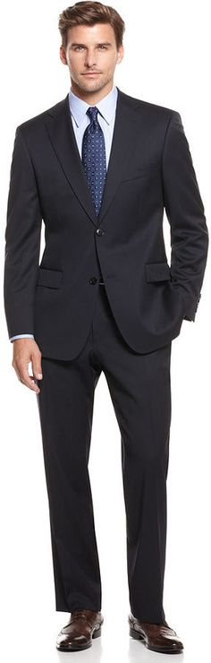Hugo Boss Suit, Pasolini Navy Solid thestylecure.com