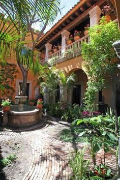 My home will have a mexican courtyard, fountain and balconies included!:
