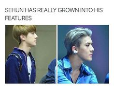 Oh Sehun - holy asdfghjkl how he has grown into a real fine man now!