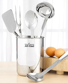 All-Clad Stainless Steel Kitchen Cooking Tools, 6 Piece Set - Cookware - Kitchen - Macy's