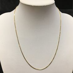 Goldene Venezianer Halskette 6,7g 54 cm 14K 585 Gold ID:1702-2 - AV-Pfandhaus Shop Gold, Pendant Necklace, Shop, Jewelry, Fashion, Neck Chain, Jewlery, Moda, Jewels