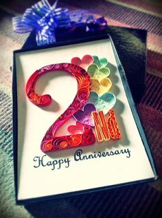 paper quilling - 2nd anniversary