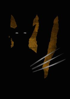 Superhero Shadows – A Dark Minimal Poster Series - Wolverine Marvel Wolverine, Marvel Comics, Logan Wolverine, Marvel Vs, Marvel Heroes, Wolverine Poster, Wolverine Claws, Batman, Superman