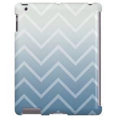 Sky White Chevron iPad case