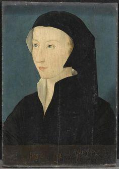 Aimée Motier de la Fayette, baillive de Caen (1490-1570), veuve de François de Silly .... Corneille de Lyon (vers 1500-vers 1575) (d'après) ... Governess of Jeanne d'Albret