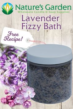 Free Lavender Fizzy Bath Recipe by Natures Garden