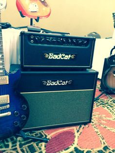 bad cat cougar 5 5 w vass a tube guitar combo amp via badcat hotcat 50 head and cab