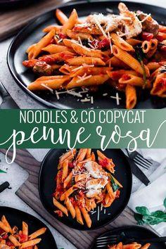 Penne Rosa – Noodles & Company Copycat - Recipes to try - Pasta Pastas Recipes, Easy Pasta Recipes, Recipe Pasta, Cooking Recipes, Healthy Recipes, Vegetarian Recipes, Recipies, Italian Dinner Recipes, Easy Dinner Recipes