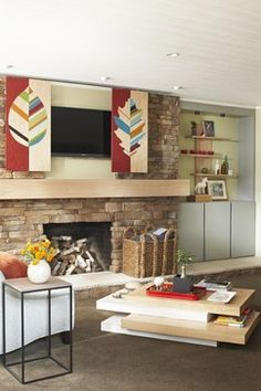 Family Room barn door tv Design Ideas, Pictures, Remodel and Decor