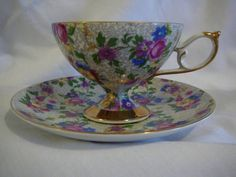 Shafford Chintz TEA CUP AND Saucer