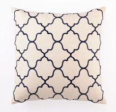 Shopten25 Navy Moroccan Pattern Pillow $113