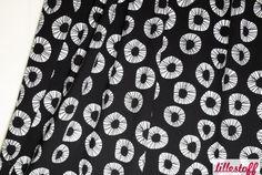 Lillestoff Jersey Free, schwarz/weiß von Stoff  Wichtelino auf DaWanda.com