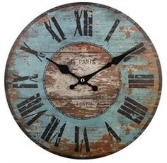 "This 12"" clock with Roman numerals  makes a statement in a very sophisticated way."