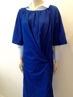Humanoid Wide Cotton Dress Ponce in Cobalt €238