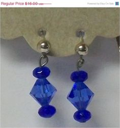 ON SALE Handmade Blue Onyx and Crystal by DragonAlleyJournals, $14.40