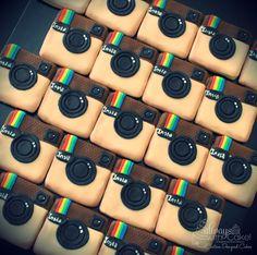 Instagram Cake w/Cookies - Instagram Cookies