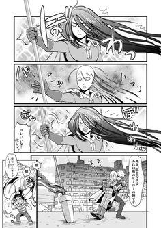 The Crossover Manga/Anime, Satama meet The beast spear, One punch man meet Ushio to tora One Punch Man Funny, One Punch Man Manga, Anime One, Otaku Anime, Manga Anime, Ushio To Tora, Saitama One Punch Man, Yandere Simulator, Anime Crossover