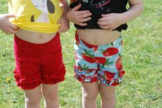 Upcycled Ruffle Shorties From Leggings with Tutorial