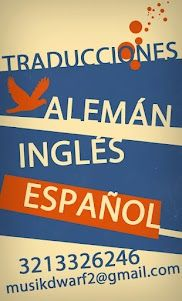 Traducciones en Bogota: Alemán, inglés, español.