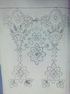 Couture Embroidery, Hand Embroidery, Hand Sketch, Floral Border, Fashion Wear, Ali, Vintage World Maps, Indian, Tattoos