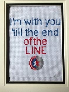 Stucky Captain America and The Winter Soldier Cross Stitch Pattern