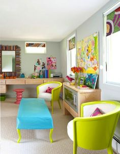 The neon trend continues to gain momentum and we can see why — used well, neon looks cheerful and contemporary. While some designers, like Karim Rashid, are happy to saturate entire rooms in neon hues, the look often works best at home by choosing a few well-placed pieces. If you're looking to add an ultra-bright dose of color to your home, here are a few accessories to get you started.