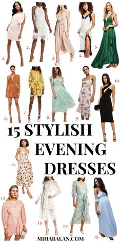15 Stylish summer dresses for evening or weddings, summer dresses, LBD, evening dresses, wedding dresses, summer fashion #dresses #eveningdresses #weddingdress #summerdresses #springdresses #summerstyle #summerfashion #springfashion #springsummer2017 #stylish #chic #fashion #style #minimalistic #scandinavian #elegant #outfitoftheday #outfitideas