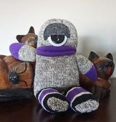 Vooter an Ogre of a sOck Monster by SammiBears Sock Monster, Monster Party, Sock Animals, Ugly Animals, Sock Toys, Sock Crafts, Sock Monkeys, Sewing Toys, Soft Dolls