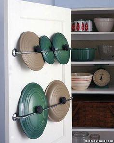 rangement couvercles porte de cuisine