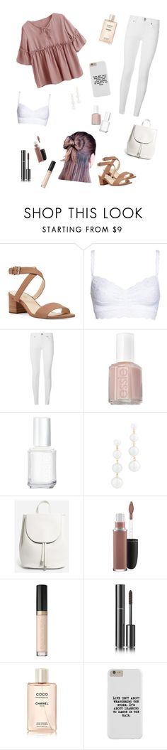 """""""Everyday"""" by miriamk2020 ❤ liked on Polyvore featuring Nine West, Cosabella, Burberry, Essie, Rebecca Minkoff, Everlane, MAC Cosmetics and Chanel"""