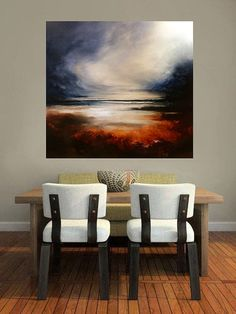 """Large Canvas Abstract Oil Painting by Artist Simon Kenny """" Aftermath"""" Oil Painting Abstract, Abstract Canvas, Canvas Art, Painting Tips, Abstract Landscape, Landscape Paintings, Oil Paintings, Acrilic Paintings, Large Canvas"""