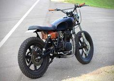 Black and Tan Yamaha XS400 Custom Motorcycle 3