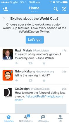 World Cup on Twitter.
