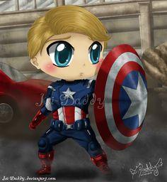 Chibi Captain America - Steve Rogers by Isi-Daddy.deviantart.com on @deviantART