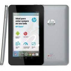 HP Slate7, o tablet totalmente Android™ com tecnologia Beats Audio e facilidade de impressão. O Tablet HP Slate Possui tecnologias inovadoras, como o Audio Beats, que exclusivo para seus tablets e o Eprint HP, que permite conectar a qualquer impressora HP na nuvem e imprimir à partir do seu Tablet HP.