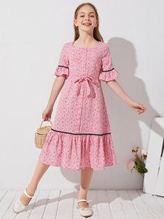 Pretty Dresses For Kids, Kids Summer Dresses, African Dresses For Kids, Stylish Dresses For Girls, Frocks For Girls, Little Girl Dresses, Girls Dresses, Baby Dress Design, Baby Girl Dress Patterns