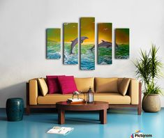 Fun / Fancy Home Decor Items, painting, Triptych Living Room Decor, Bedroom Decor, Bedroom Kids, Kids Room, Art For Sale Online, Art Online, Colourful Living Room, Home Office Decor, Canvas Artwork