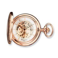 Charles Hubert Rose Gold-plated Brass Window Cover Pocket Watch Jewelry Adviser Charles Hubert Watches. $162.50