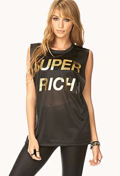 Super Rich Jersey Tank | FOREVER21 - 2000076216