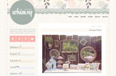 Garden Whimsy Blogger Template : Envye, A Design Shop by Wonder Forest