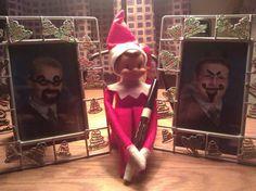 Elf on the Shelf :Naughty little elf!