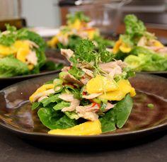 Kipsalade met mango. Recept