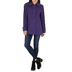 David Barry - Purple faux cashmere duffle coat