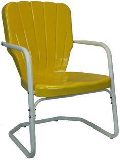 Heavy Duty Thunderbird Metal Lawn Chair Style