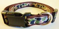 Large Brown Camo Dog Collar by WildThingzPetGear on Etsy