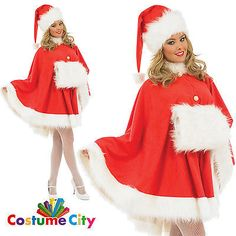 Adult womens miss santa #claus #christmas cape fancy dress #party costume,  View more on the LINK: 	http://www.zeppy.io/product/gb/2/391325083794/