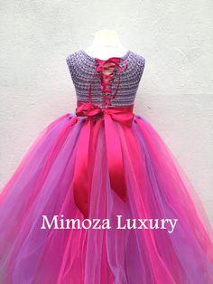 Flor vestido de la muchacha vestido del tutú del por MimozaLuxury