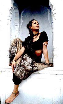 Modelling Barocco Tribal skirt and choli