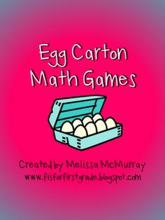 Math games with egg cartons