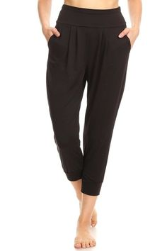 7e3f7c7b10953 ShoSho Womens Solid Color Loose Fit Jogger Harem Pants Casual Bottoms  Skinny Self Tie at Amazon